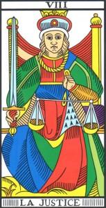 tarocchi : la giustizia