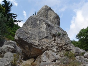 sognare roccia