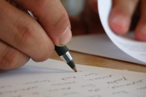sognare scrivere